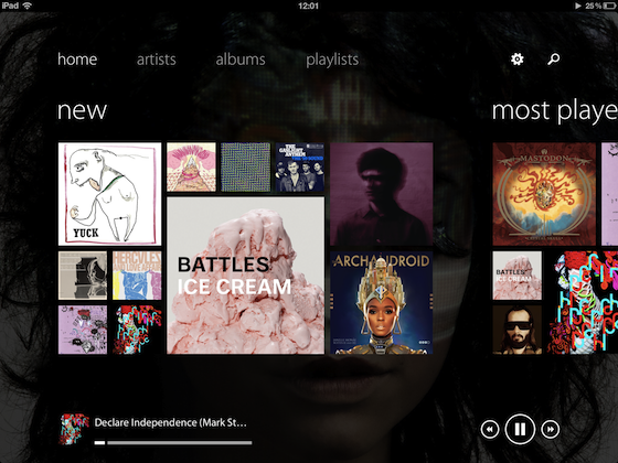 Track 8 is a Metro-style music player for your iPad (hands