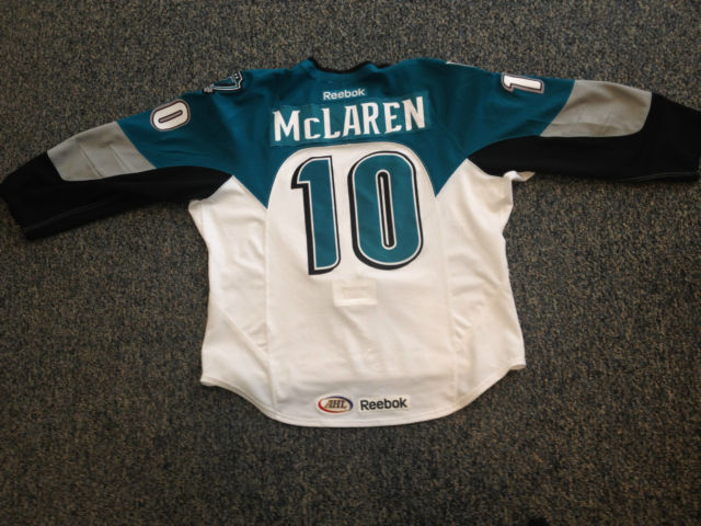 reputable site e1235 aedd4 Score a game worn Worcester Sharks jersey on eBay - Fear The Fin