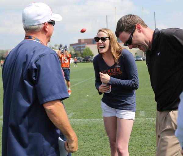 Denver Nuggets Sb Nation: Missy Franklin Takes In Denver Broncos OTAs