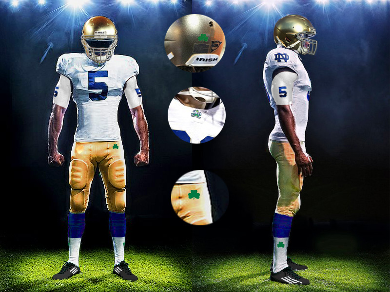 2381d4174 Notre Dame Uniform Concepts  The New Gold Standard - One Foot Down