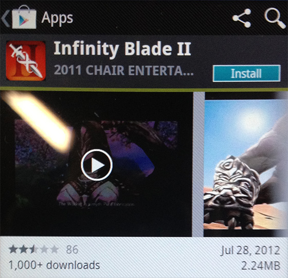 Fake 'Infinity Blade 2' for Android hits Google Play Store