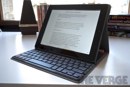 Logitech solar keyboard folio write a review