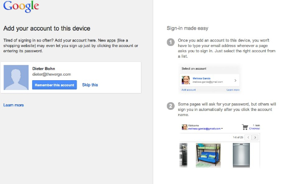 Google quietly launches 'Account chooser' for easier
