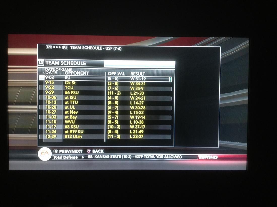 Bizarro NCAA Football 13 Simulation - USF In The Big XII