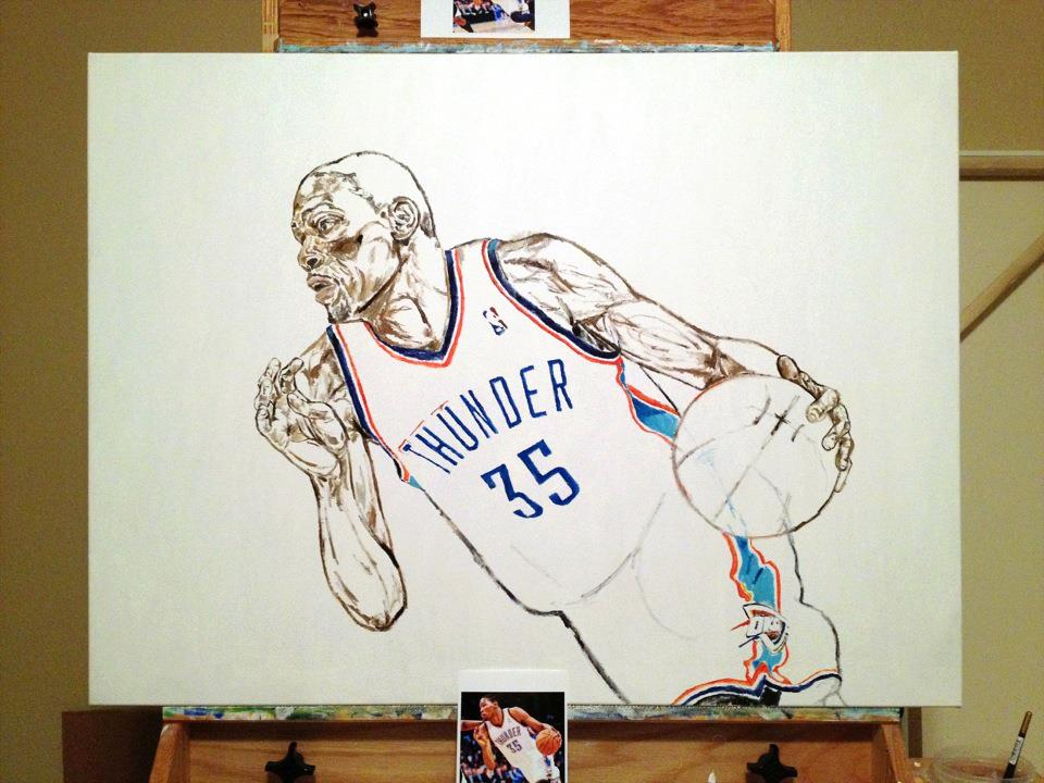 The Portrait of Kevin Durant, by W. Bennett Berry - Welcome ...