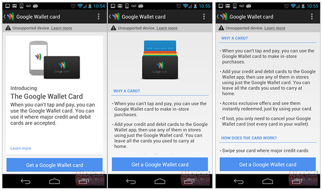 Physical Google Wallet credit card reportedly revealed in leaked app