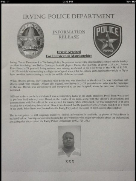 Police Report Regarding Vehicle Fatality Involving Jerry