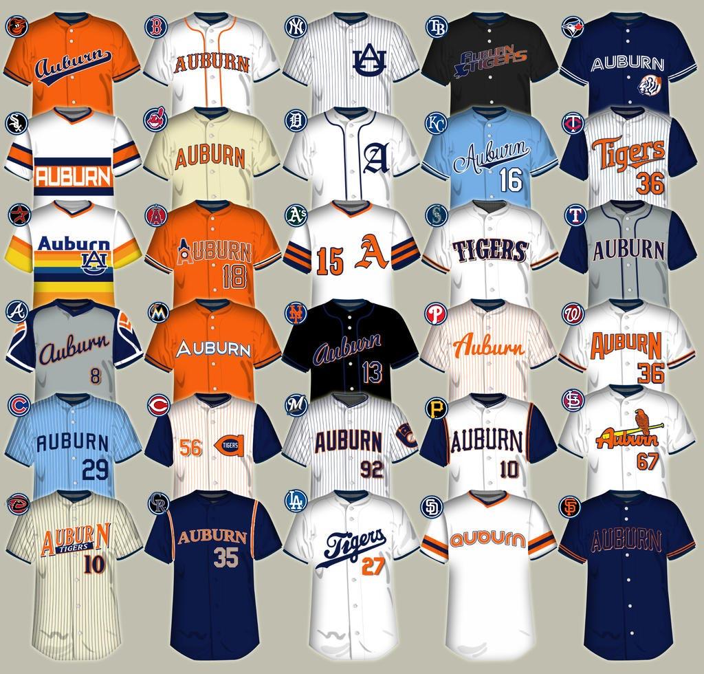 2aca93f5410 Redesigning the Auburn baseball uniform - College and Magnolia