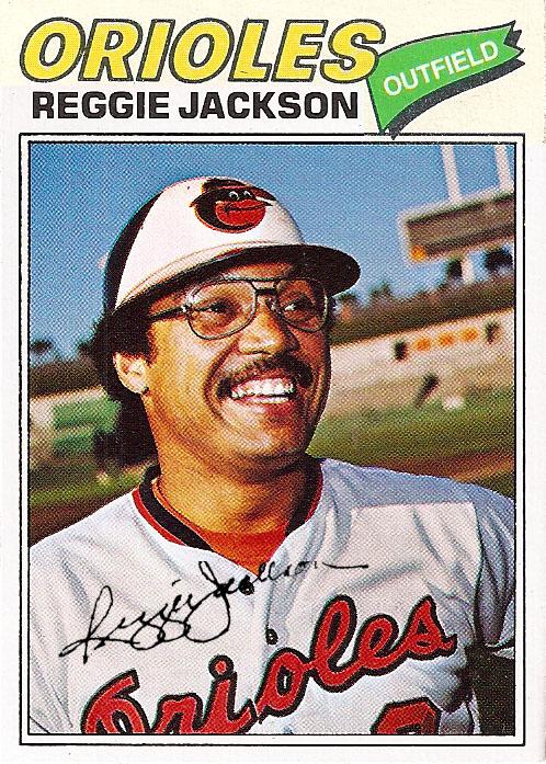 1977 Topps Reggie Jackson Orioles Unissued Proof