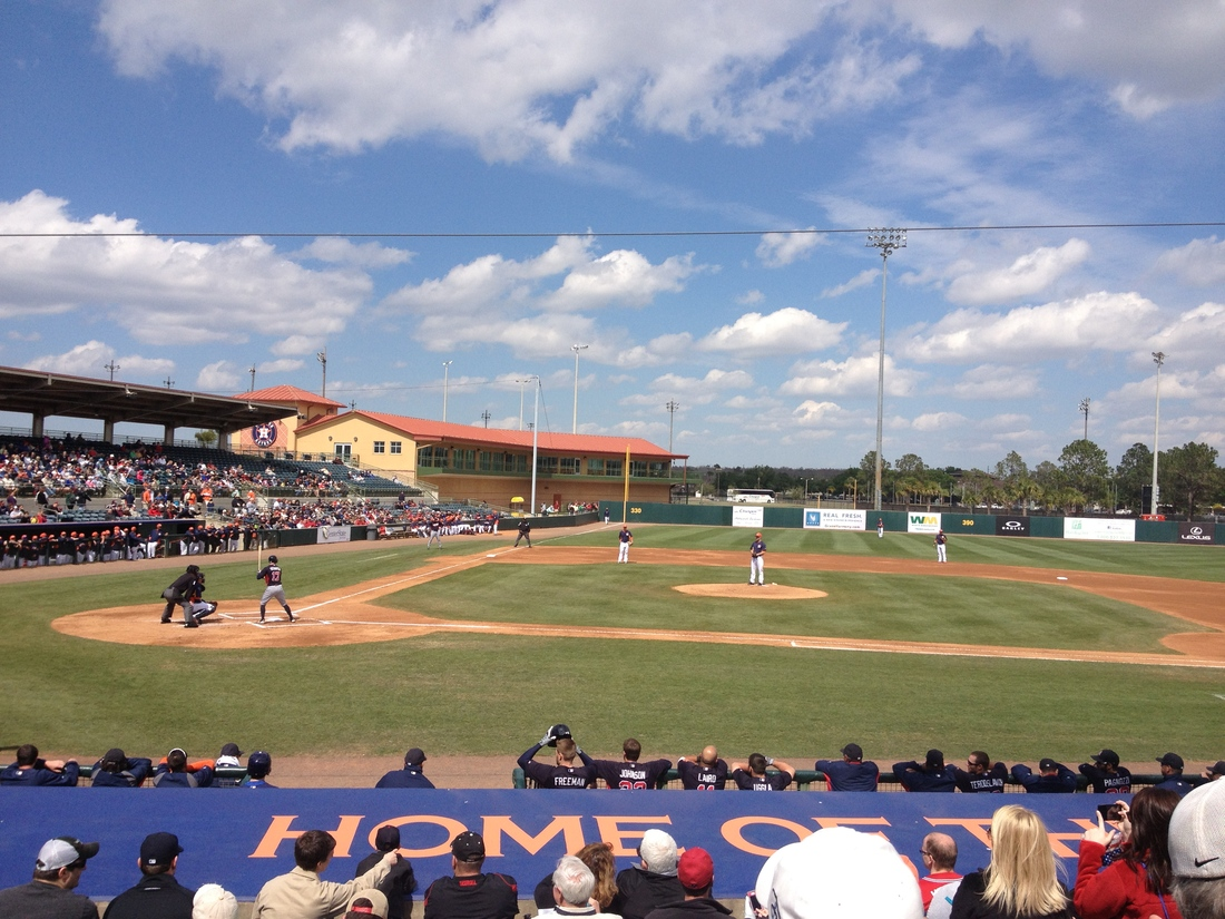 Osceola County Stadium Atlanta Braves Vs Houston Astros 3 2 13 Top Of The First Talking Chop