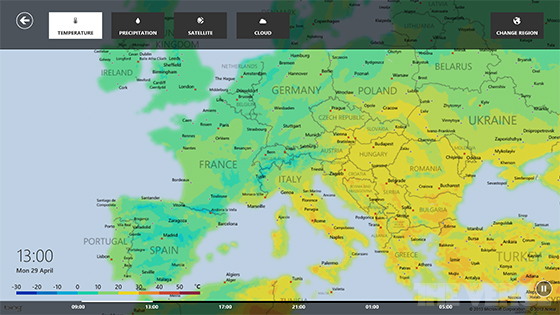 Windows 8 Weather App Updated With Interactive Maps And Ski Resort