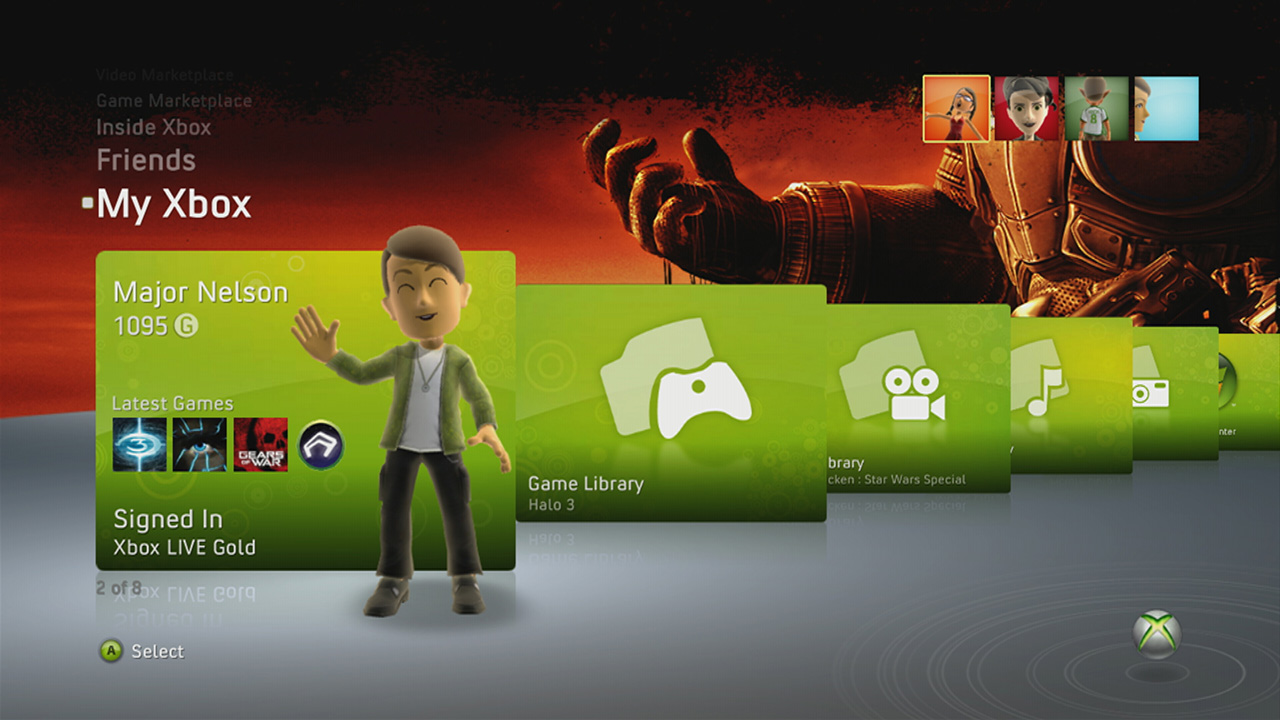 Xbox One user interface with 'instant switching' detailed