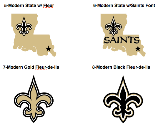 A Brief History Of Saints Logos Canal Street Chronicles