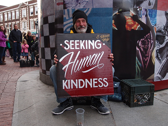 Artists help the homeless with elegant typography - The Verge