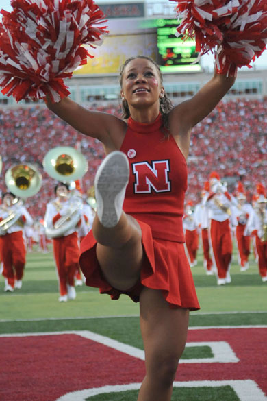 Image result for university of Nebraska cheerleaders