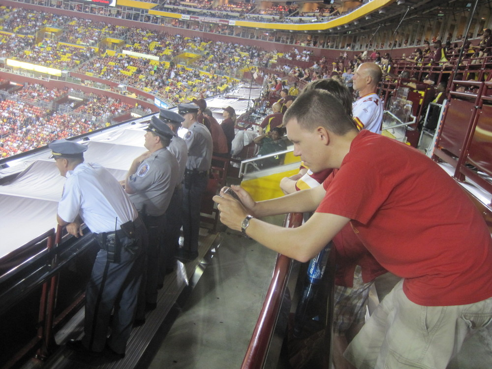 I Give The Redskins Standing Room Club Level Tickets The