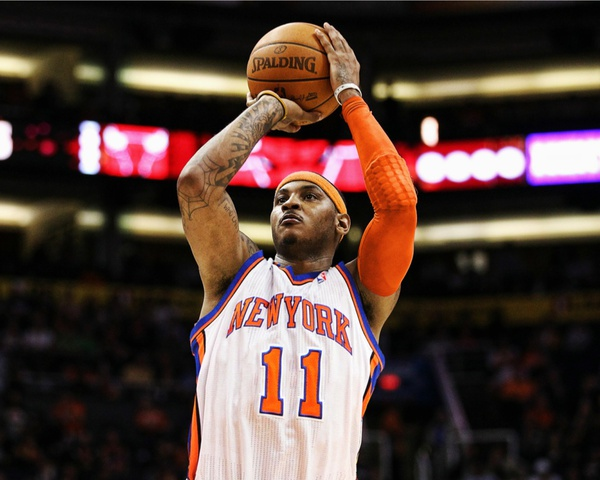 newest collection 90abe 75501 PHOTO: Carmelo Anthony In A New York Knicks Jersey ...