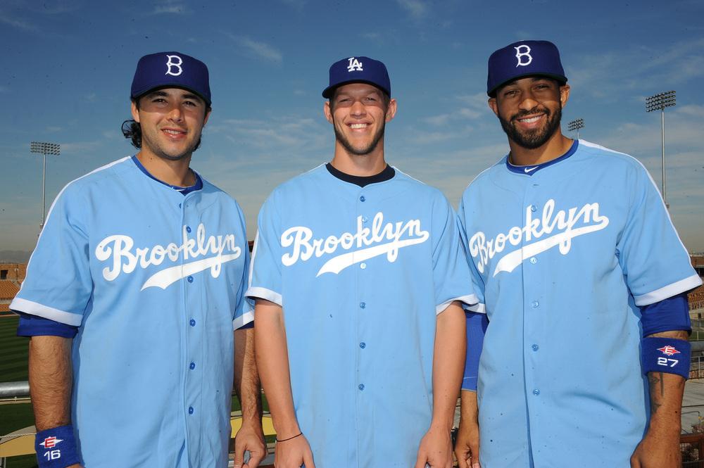 Dodgers To Wear Powder Blue Brooklyn Throwback Uniforms Six Times In ... 9a12849823f