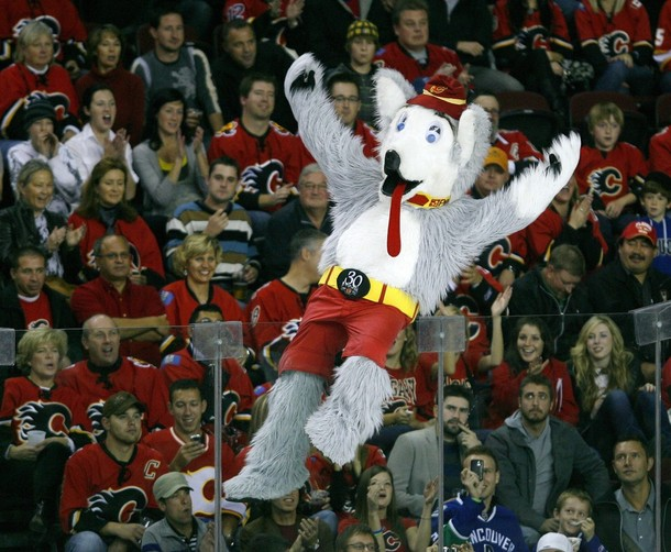 Is Stephen Harper Really Calgary Flames Mascot Harvey The Hound