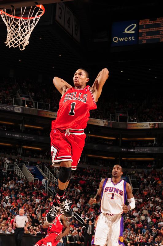 Chicago Bulls Derrick Rose Dunking