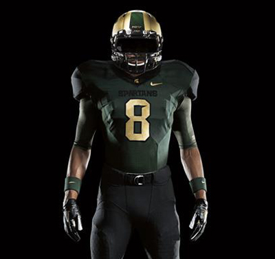 cb4df45c8 PHOTOS: Michigan State Nike Pro Combat Uniforms Released - SBNation.com