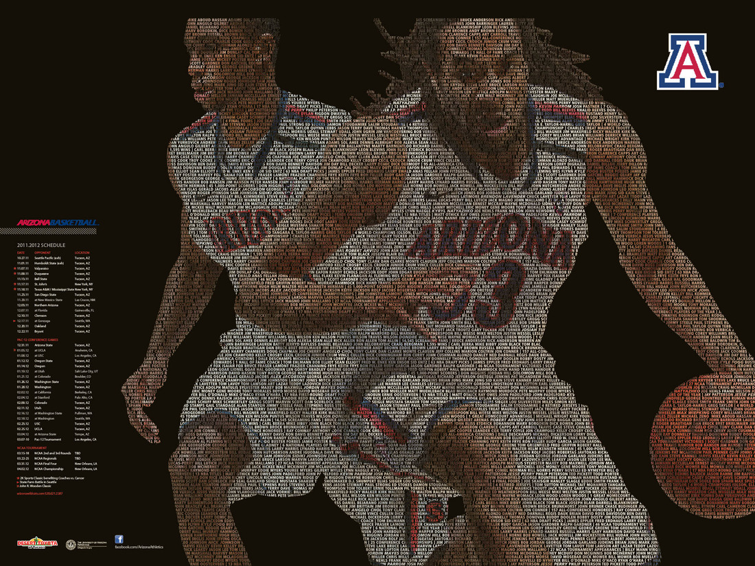 b8315c0faf4 Arizona Wildcats Basketball Releases Team Poster, Video For Ticket ...