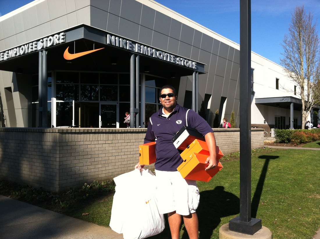 size 40 53786 7cc53 on the road byu sets records in portland plus donuts nike swag .