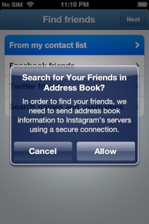 iOS apps and the address book: who has your data, and how they're