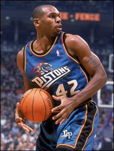 the best attitude a769a 62a2d A look back at Pistons logos and uniforms: Teal era ...