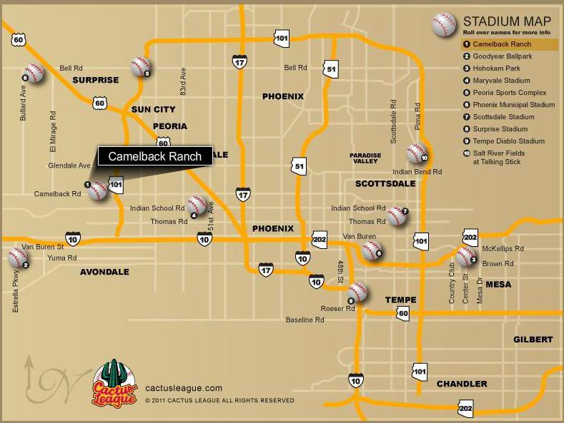 Cactus League Map White Sox Spring Training 2012: Stadium, Cactus League Map And  Cactus League Map